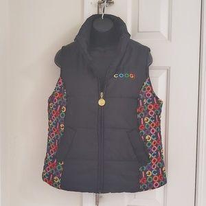 Coogi Black Puffer Vest with Logo Size Large